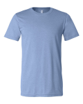 Heather Blue Canvas 3001H Short Sleeve Heather Tee