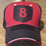 Black/Red Tri-Color Structured 100% Cotton Cap